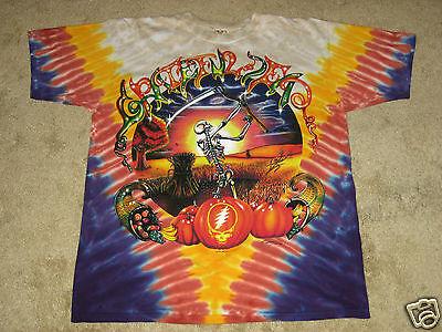 Grateful Dead Harvester Manufacture Defect Large Tie Dye T-Shirt