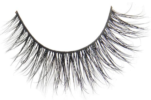 Flutter Lashes Natural MINK False Full Wing Strip Cross Long Eyelashes - Emily