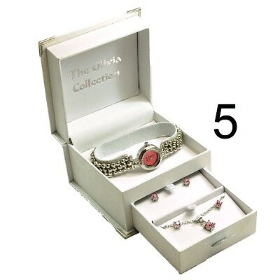 Toc Ladies Girls Bracelet Strap Watch & Jewellery Christmas Gift Set for Her