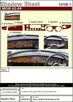 MGB & GT 1962 - 1969 WALNUT / WOOD DASH TRIM KIT