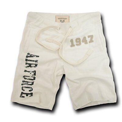 US Air Force USAF Military Applique Fleece Vintage Training Shorts ~ L XL 2XL
