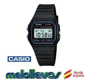 Reloj-digital-Casio-f91w-retro-UNISEX-alarma-Original