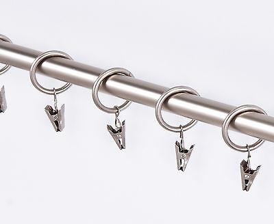 10 Stück Gardinenringe mit Klammern in 3 Farben-für Stangen von 25 mm ( A1 )