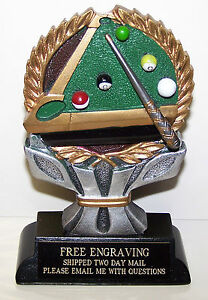 POOL-BILLIARD-TROPHY-AWARD-FREE-ENGRAVING-GIFT-BOX-TWO-DAY-MAIL