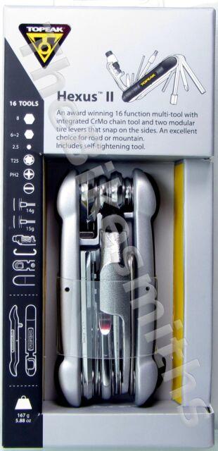 Topeak HEXUS 2 II 16 Function Multi Bike Tool TT2538B w/ Chain Breaker & Torx