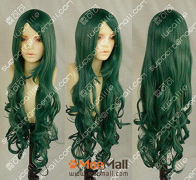 90cm Forest Green Wavy Lolita Princess Party Cosplay Wig