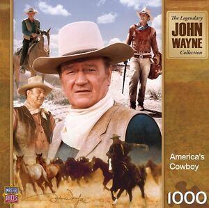 THE-LEGENDARY-JOHN-WAYNE-COLLECTION-JIGSAW-PUZZLE-AMERICA-039-S-COWBOY