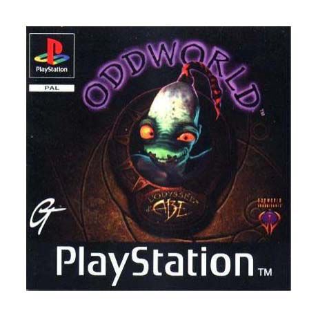 Ps1-Oddworld Abes Oddysee Sony Playstation ps1 Video Game (PAL)