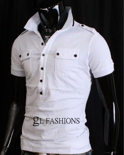 NUOVO Polo a maniche corte da uomo Top Shirt//T-shirt 100/% COTONE UK Taglia S//M//L//XL//XXL