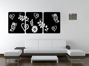 FLORAL-SQUARES-vinyl-art-sticker-bedroom-lounge-butterflies-hearts
