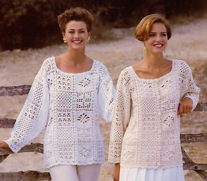 Crochet-Pattern-Sweater-amp-Jacket-One-Size-Cotton-4ply-Cool-for-Summer