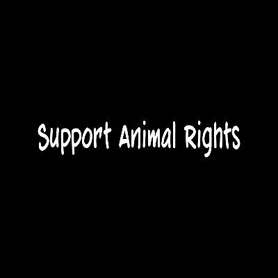 SUPPORT ANIMAL RIGHTS Sticker Cute Vinyl car truck window Decal political vegan