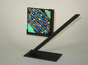Stained & Fused Glass Supplies - Art Glass Display Stand Black Metal