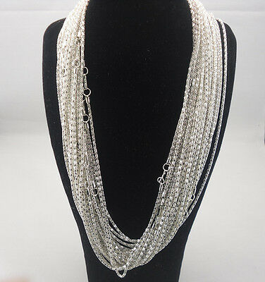 Fashion delicate Silver Plated Snake Chain Necklace With Clasp 20inchs S
