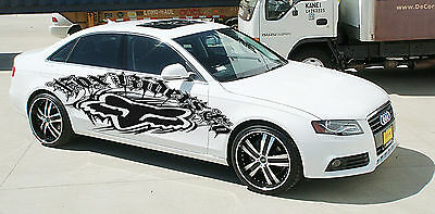 BEAUTIFUL ABSTRACT CUSTOM WRAP CAR VINYL SIDE GRAPHICS DECALS S7688