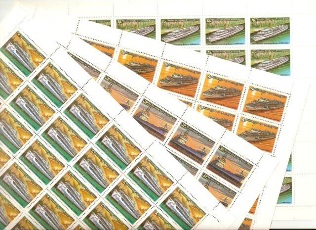 USSR 1981..n° 4823-26..YT 108€..MNH..RIVER TOUR BOAT (4 SHEETS)