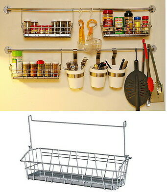 IKEA steel wire basket spice jar holder kitchen storage rack organizer BYGEL new