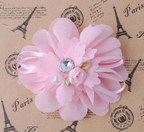 Upick 7//21pcs Rhinestone Bead Ribbon Flowers Bows Wedding//Sewing Crafts ZXA033