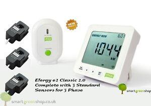 Efergy-e2-Classic-2-0-3-Phase-Wireless-Energy-Monitor-New-Model-Three-Sensors