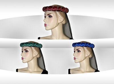 Mittelalter Schapel Stirnreif Perlenkette Schleier hängend Farbwahl Kopfschmuck