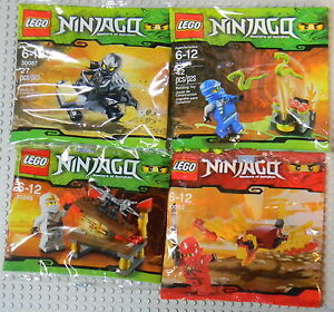 LEGO-NINJAGO-MINI-SETS-30083-30085-30086-30087-KAI-JAY-ZANE-amp-COLE-NEW