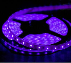 420 nm violet purple uv aquarium light led strip 100 lmft salt image is loading 420 nm violet purple uv aquarium light led mozeypictures Images