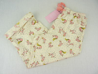 Peter Alexander Womens 'Oh Deer' Roll Up 3/4 PJ Pants- BNWT- Choose Size