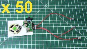 50pcs-Diy-Kit-200sec-De-3-Botones-Mp3-dispositivo-Voz-Sonido-De-La-Musica-Disco-modulo-de-chip