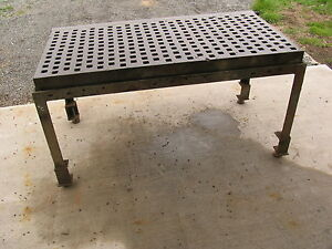 3 X 6 Acorn Type Welding Platen Layout Table With Stand