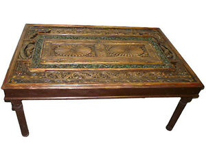 door tables dining table india furniture carved wood rust green patina