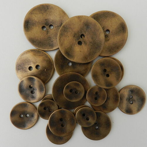 27 /& 35 mm wide 23 3 x round metal buttons 2 holes bronze or silver 15 18 20