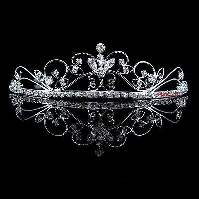 Funkeln Strass Hochzeit Braut Haarschmuck Haarreif Kommunion Krone Diademe Tiara
