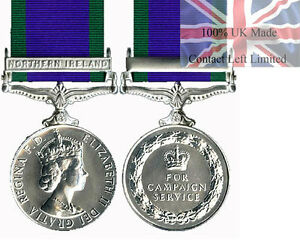Official-FULL-Size-General-Service-Medal-Northern-Ireland-Clasp-Ribbon-GSM