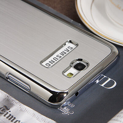 Brushed Aluminum Chrome Hard Case For Samsung Galaxy Note II 2 N7100 +Film SM93