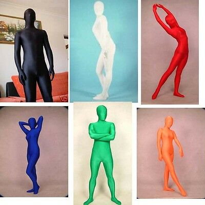 Full body Second Skin Lycra zentai Costume Suit Fancy Dress Party size S-XXL