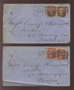 PENNY-RED-Plates-120-122-PAIRS-on-COVERS-MANCHESTER-1869-70