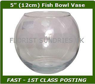 OASIS GLASS FISH BUBBLE BOWL ROUND WEDDING TABLE VASE CLEAR - 6 DIFFERENT SIZES