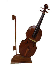 High-Quality-Wooden-Violin-Model-3-034-Wood-Musical-Instrument-Handmade-For-Display
