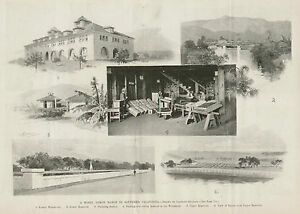 California-Lemon-Ranch-Reservoir-Warehouse-w-Text-1894-Original-Antique-Print