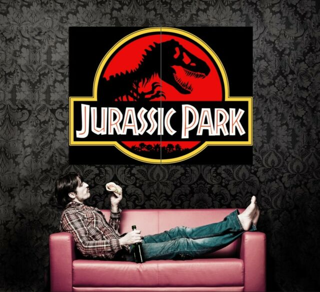 XD8618 Jurassic Park Logo Movie Dinosaur HUGE Wall POSTER