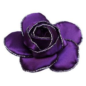plus bas rabais vente pas cher 50-70% de réduction Détails sur Pince cheveux bibi Mariage cérémonie soirée danse fleur SATIN  VIOLET violette