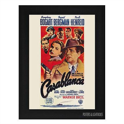 CASABLANCA Framed Film Movie Poster A4 Black Frame
