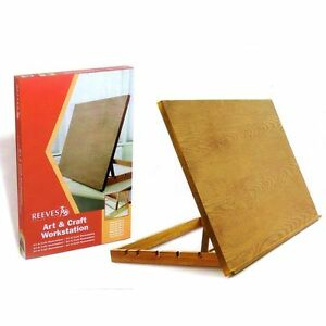 REEVES-A2-ART-amp-CRAFT-WORK-STATION-TABLE-WOODEN-ARTIST-EASEL-LARGE-DRAWING-BOARD