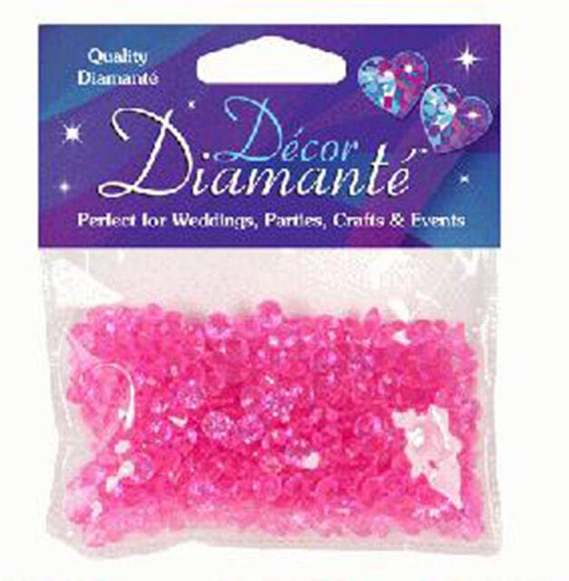 6mm Hot Pink Diamante Crystal Table Confetti, Wedding Celebration Decoration