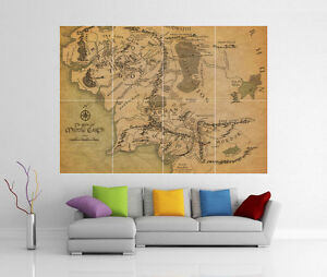 MIDDLE-EARTH-LORD-OF-THE-RINGS-LOTR-GIANT-WALL-ART-PICTURE-PRINT-POSTER-G102