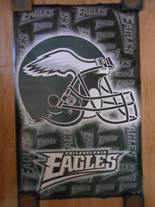 NFL Football Poster Philadelphia Eagles Helmet Logo