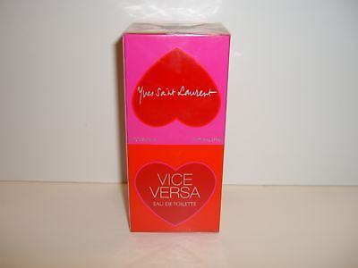 Yves Saint Laurent Vice Versa Perfume Eau De Toilette Spray 3.3 oz NIB