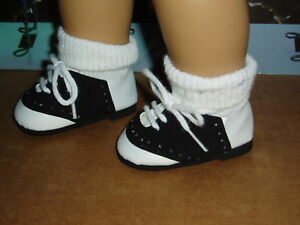 Saddle-Shoes-18-034-Doll-Clothes-Fits-American-Girl-Dolls-Black-and-White