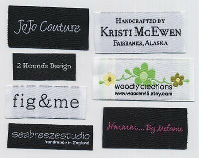 600 personalized letters design clothing labels professional Garment woven label