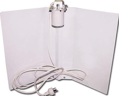 BATWING WHITE HYDROPONICS REFLECTOR SHADE 390MM